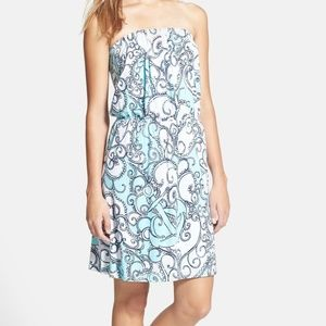 Lilly Pulitzer Atwood' Strapless Print  Dress  Xs